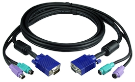 15ft Premium Keyboard/VGA/Mouse Combo Universal Extension Cable for PS/2 KVM Switch C3P2X-15 037229541991