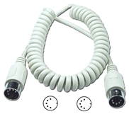 25ft Din5 Male to Male PC/AT Coiled Keyboard/MIDI Cable CC329-25 037229329247 Cable, Straight Thru, Keyboard/MIDI Multimedia - Coiled Type, PC AT, Din5M/M, 25ft, 24AWG CC32925 CC329-25  cables feet foot   2633