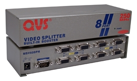250MHz 8Port VGA Video Splitter/Distribution Amplifier MSV608PH 037229006148 Video Signal Splitter/Multiplier/DA/Distribution Amplifier with Built-in Booster, Up to 8 Video, 250Mhz, Suppports VGA/SVGA/XGA/MultiSync and Up to 1600 x 1200 Resolution, HD15 Connectons VS-818   MSV608PH MSV608PH      3644