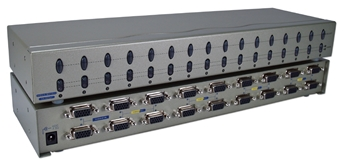 250MHz 16Port VGA Video Matrix Switch (2x16) MSV616PHX2 037229006599 Video Share/Splitter/DA/Distribution Amplifier (Matrix) with Built-in Booster, 2PCs Share/Control 16 Video, 250MHz Supports VGA/SVGA/Multisync and up to 1920x1440, HD15 Connectors MSV616PHX2 MSV616PHX2      3648