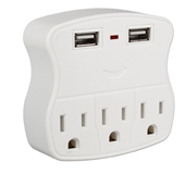 3-Outlet Wallmount Power Block with Dual-USB 2.1Amp Charging Ports PS-05UW 037229334586 5-Outlets 3-Prong Wallmounted Power Block/Strip/Tap 3-AC/2-USB 2.1Amp Charger for Smartphone, Tablet & GPS, White PS-06UH     PS05UW PS-05UW      3954  microcenter Zachary Sheets Pending