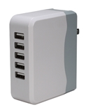 5-Port 6.8amp USB Universal AC Charger with Folding Power Plug USBAC-5 037229334661 5-Port 6.8Amp / 34Watts Travel USB Smart AC/Wall Charger/Station Power Strip with Folding Power Plug for Smartphone, Tablet and GPS HC363-5U  YW3131 USBAC5 USBAC-5      3961 IMCE microcenter David Chesrown Pending
