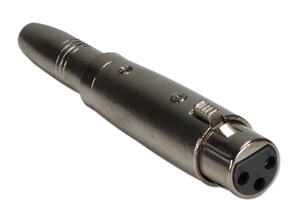 XLR Female to 1/4 Female Audio Adaptor XLRT-AFF 037229402377
