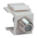 "Single F Coax Snap Fitting Jack C5F 037229714784 Category 5 - C5 Basic Wall Plate Assemblies, Module - ""F"" Connector F/F Insert MU5-F   C5F C5F      2185"
