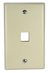 1Port Biege Wall Plate for Modular Keystone Jack C5WP-1P 037229714708 Category 5 - C5 Basic Wall Plate Assemblies, Wall Plate, Beige, 1 Port C5WP-1PW  JE317-V1/WH-UN 538876  C5WP1P C5WP-1P      2208  microcenter Eckhardt Discontinued