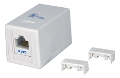 Single Port CAT6 Keystone Jack White Surface Mount Box Kit C6BX-1PWK 037229714678 Category 6 - Surface Mount Single Port Kit, Keystone 110 Jack, CAT6 3P Certified, Straight Thru, White, RJ45F/F C5BX-1PW + C6JACKBW     C6BX1PWK C6BX-1PWK      2217