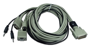 12ft PC/AT Keyboard/Video/Mouse/Audio DB25 KVM Combo Cable CATPC-12 037229541267