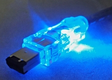 10ft IEEE1394 FireWire/i.Link 6Pin to 4Pin A/V Translucent Illuminated/Lighted Cable with Blue LEDs CC1394B-10BLL 037229139204 Cable, IEEE1394 FireWire/i.Link for Audio/Video with Blue LEDs, 6 to 4Pins, 10ft, Translucent 165787 TH6598 CC1394B10BLL CC1394B-10BLL cables feet foot  2323