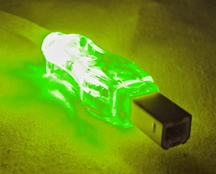 10ft USB 2.0 480Mbps Type A Male to B Male Translucent Illuminated/Lighted Cable with Green LEDs CC2209C-10GNL 037229229844 Cable, USB 2.0 480Mbps Universal Serial Bus Type A Male to B Male Translucent Cable with Green LEDs, For Printer, Scanner, Camera, External Drive & PC/Hub, 10ft 313858 TH6567 CC2209C10GNL CC2209C-10GNL  cables feet foot   2464 IMCE microcenter  Discontinued