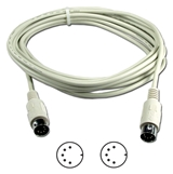 25ft Din5 Male to Male PC/AT Keyboard Cable CC329-25S 037229329254