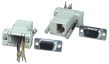 DB9 Male to RJ45 Female Serial/Terminal Modular Adaptor CC438 037229334388 Adaptor, Serial RS232 to RJ45 8Wires Modular, RJ45F/DB9M (Custom Pin-Out Application) 529347  CC438 CC438 adapters adaptors     2828  microcenter Michael Weiler Approved
