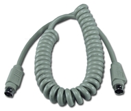 12ft Mini4 Male to Male Apple/Mac ADB Coiled Keyboard Cable CC520-12 037229520125 Cable, Straight Thru, Keyboard/Mouse - Coiled Type, Apple/Mac ADB, Mini4M/M, 12ft CC52012 CC520-12  cables feet foot   2847