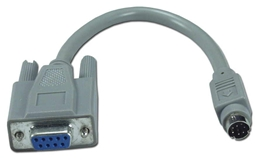 6 Inches Mini8 Male to DB9 Female ImageWriter Printer Cable CC523 037229523003