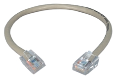 1.5ft 350MHz CAT5e Flexible Gray Patch Cord CC712E-1.5 037229710571