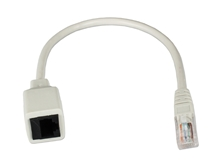 3-Pack 1ft 350MHz CAT5e Ethernet/Telco PortSaver Gray Patch Cord CC5MF-01GY 037229710908 Cable, 3-Pack PortSaver Series/Dongle, CAT5e/RJ45 Category 5e Enhanced, LAN/Ethernet Patch Extension Cord, Stranded/UTP, Black, RJ45M/F, 1ft CC5MF-01GY 3-Pack