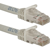 100ft CAT6A 10Gigabit Ethernet White Patch Cord CC715A-100WH