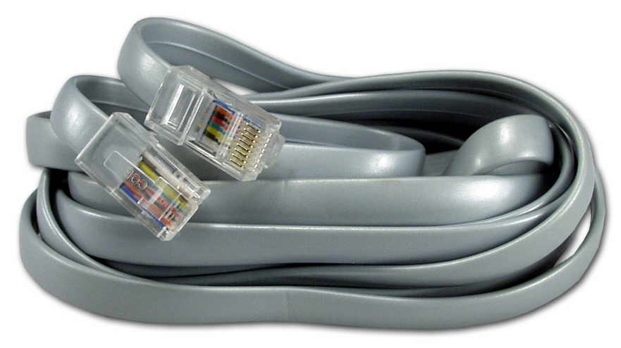 7ft RJ45 Male to Male Telco 8Wires Flat Silver Satin Patch Data Cable CC934-07 037229934076 Telco Flat Data Cable, Straight Thru, Silver Satin, RJ45M/M 8 Wires, 7ft CC93407 CC934-07  cables feet foot   3195