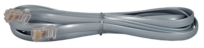 10ft RJ45 Male to Male Telco 8Wires Flat Silver Satin Patch Data Cable CC934-10 037229934106 Telco Flat Data Cable, Straight Thru, Silver Satin, RJ45M/M 8 Wires, 10ft CC93410 CC934-10  cables feet foot   3196