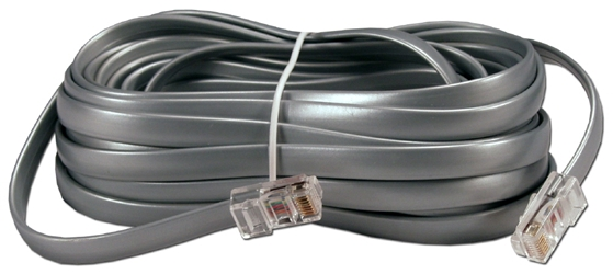 25ft RJ45 Male to Male Telco 8Wires Flat Silver Satin Patch Data Crossover Cable CC934X-25 037229934267 Telco Flat Data Cable, Crossover, Silver Satin, RJ45M/M 8 Wires, 25ft CC934X25 CC934X-25  cables feet foot   3200