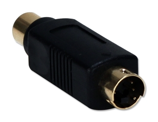"Premium S-Video Mini4 Male to Composite Female Adaptor CSV1RCA 037229400359 Cable, Premium S-Video Mini4 Male to One Composite RCA, Mini4 M/RCA F, 6"" 186346 TW8119 CSV1RCA CSV1RCA  cables    3255 IMCE microcenter Edward Matthews Approved"