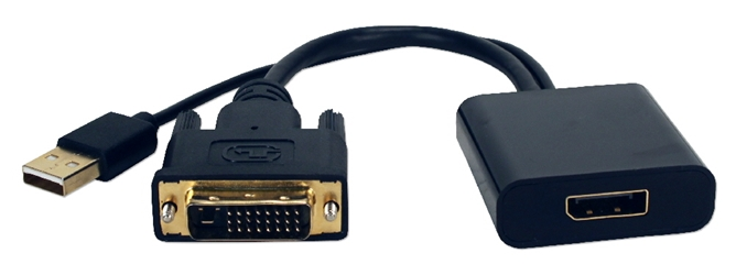 DVI to DisplayPort Active Video Converter DVIDP-MF 037229004991 Adaptor microcenter