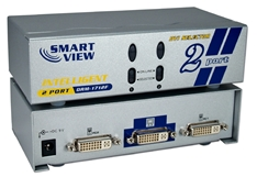 2x1 2Port DVI Digital Video Share Switch M201DVI 037229006636 Video Selector/Share Switch with Built-in 32ft Booster, Up to 2 DVI Video, 1280x1024 60Hz resolution, DVI-I Connectors MDVI-21P  DRM-1712F 605758  M201DVI M201DVI   feet foot   3581  microcenter Carrico Discontinued