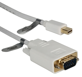 6ft Mini DisplayPort to VGA Video Cable MDPVGA-06 037229009538 Cable, Mini-DisplayPort v1.1 Compliant, Convert Mini-DisplayPort Audio/Video into VGA Video, DP Male to HD15 Male, 6ft 10DP-MDPVGA-06  YW3124 MDPVGA06 MDPVGA-06  cables feet foot   3593 IMCE microcenter David Rejected