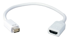 Mini-DVI Male to HDMI Female Digital Video Adaptor MDVIH-MF 037229007695 Adaptor, Apple PowerBook/MacBook Mini-DVI to HDMI digital video converter, M/F 530477 KV6439 MDVIHMF MDVIH-MF adapters adaptors     3602 IMCE microcenter Chesrown Discontinued