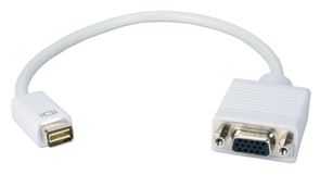 Mini-DVI Male to VGA Female Digital Video Adaptor MDVIV-MF 037229007701 Adaptor, Apple PowerBook/MacBook Mini-DVI to VGA digital/analog video converter, M/F 530485 KV6440 MDVIVMF MDVIV-MF adapters adaptors     3603 IMCE microcenter David Chesrown Approved