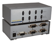 4x1 250MHz 4Port VGA Video Share Switch MSV104P 037229006315 Video Selector with Built-in Booster, Up to 4 Video, 250MHz Supports VGA/SVGA/Multisync and up to 1920x1440, HD15 VRM-714E 605352 TB7313 MSV104P MSV104P   3624