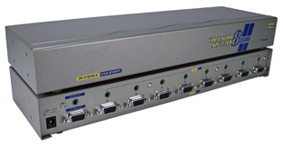 400MHz 8Port VGA Video Splitter/Distribution Amplifier with Audio MSV608P4A 037229006520 Video & Audio Signal Splitter/Multipler/DA/Distribution Amplifier with Built-in Booster, Up to 8 Video/Audio, 400MHz, Supports VGA/SVGA/XGA/Multisync/DDC and up to 2760x1600 Resolution, HD15/3.5mm Connectors VAS-818PF   MSV608P4A MSV608P4A      3642