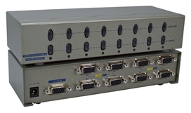 400MHz 8Port VGA Video Splitter/Distribution Amplifier with Port On/Off Switch MSV608P4PC 037229006551 Video Signal Splitter/Multiplier/DA/Distribution Amplifier with Port On/Off Switch & Built-in Booster, Up to 8 Video/Audio, 400MHz, Supports VGA/SVGA/XGA/Multisync/DDC and up to 2760x1600 Resolution, HD15/3.5mm Connectors MSV608P4PC MSV608P4PC      3643