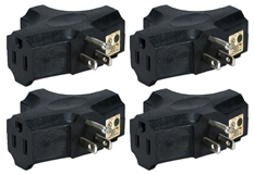 4-Pack 3-Outlets Space-Saver Grounded Power Outlet Splitter PA-3P-4PK 037229231151