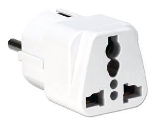 Single-Port US to EU Grounded Travel Power Adaptor PA-EU 037229334784 US to EU Grounded Power Plug Adapter