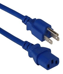 10ft 18AWG Computer Power Cord PC-10W1-01210-BU-CMT