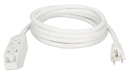 3-Outlet 3-Prong 10ft Power Extension Cord PC3PX-10WH 037229231618