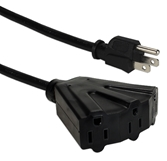 10ft Three Angle Outlet 3-Prong Power Extension Cord PP-ADPT3-10 037229231748 Power Cord, Port/OutletSaver Power Extension/Splitter Adaptor Cable, Tripple/3-Outlets, 10ft AC Male to 3-Angled-Female KT-302 586453  PPADPT3 PP-ADPT3-10 adapters adaptors cables