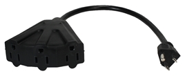 "12 Inches 3-Outlet OutletSaver AC Power Splitter Adaptor PP-ADPT3 037229334647 Power Cord, Port/OutletSaver Power Extension/Splitter Adaptor Cable, Tripple/3-Outlets, 12"" AC Male to 3-Angled-Female KT-302 586453  PPADPT3 PP-ADPT3 adapters adaptors cables    3953  microcenter Zachary Sheets Approved"