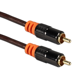 12ft HDTV RCA Premium Digital/SPDIF Subwoofer Audio Coax Cable RCA1A-12 037229400816 Cable, RCA/SPDIF Component/Composite Video/Digital Audio Premium 75ohm Color-Coded Shielded Cable, RCA M/M, 12ft RCA1V-12 RCA1SW-012 CC313-12X     RCA1A12 RCA1A-012  cables feet foot   3684
