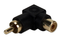 RCA Male to Female 90 Degree Adaptor RCA1V-MFR 037229401141 Adaptor, PortSaver/Dongle/Coupler, RCA Right Angle Coupler for composite video or stereo applications, RCA M/F RCA1V-MFRB  JR0524 140871 TW8128 RCA1VMFR RCA1V-MFR adapters adaptors     3699 IMCE microcenter Edward Matthews Approved