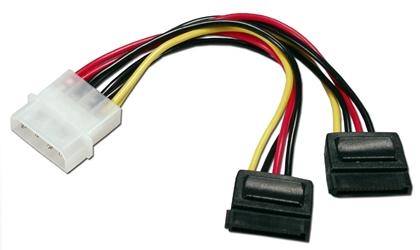 "6 Inches Dual SATA Internal Y Power Cable SATA152-4P 037229115710 Cable, Serial ATA Internal Power Y/Splitter Adaptor, 4Pin to (2) 15Pin, 6"" 674002  SATA1524P SATA152-4P adapters adaptors cables    3744  microcenter Michael Weiler Approved"