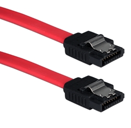 Premium 0.5-Meter SATA 3Gbps Internal Data Cable with Locking Latch SATA1M-05M 037229115802 Cable, SATA Serial ATA Internal 7Pin Data Cable with Metal Lock/Latch, 7Pin to 7Pin, Red, 0.5M (20 inch) 5835  SATA1M05M SATA1M-05M  cables   inches 3749  microcenter Michael Weiler Approved