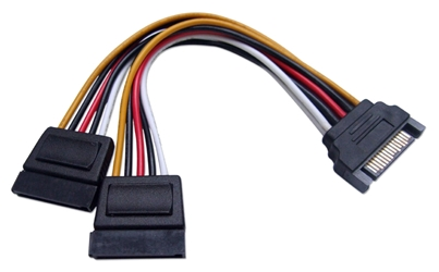 6 Inches SATA Internal Y Power Cable SATAP15-06Y 037229115918 Cable, SATA Power Y Splitter Cable, 15Pin Male to Dual-15Pin Female, 6 inches 634972  SATAP1506Y SATAP15-06Y  cables   inches 3776  microcenter Michael Weiler Approved
