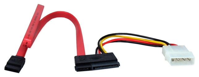 SATA 3Gbps Internal Power and Data Combo Cable SATAPD-1A 037229115901 Cable, SATA150 Serial ATA Internal Data and Power Combo Cable, 7pin/15Pin 498626  SATAPD1A SATAPD-1A  cables    3779  microcenter Michael Weiler Approved