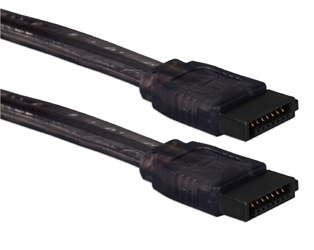 24 Inches SATA 3Gbps Internal Data UV Black Cable SATAUV-24BK 037229115512
