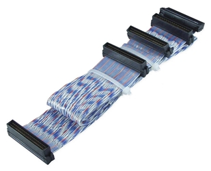 30 Inches Ultra160 SCSI Dual Drives PVC Twisted Pairs Ribbon Cable plus a Terminator Connector SCSIU3S-2T