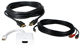 Mini DisplayPort to HDTV with HDMI 16ft A/V Cable Kit TMDP16K 037229230420 Cable Kit, Connects Apple PowerBook/MacBook with Mini-DisplayPort to HDTV with HDMI Digital Video Converter/Adaptor, 16ft 781799  TMDP16K TMDP16K adapters adaptors cables feet foot   3849  microcenter Edward Matthews Approved