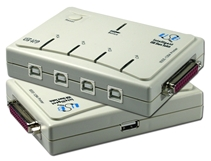 Four Computers to One Parallel Printer and One USB Peripheral Autoswitch UH-401P 037229221459