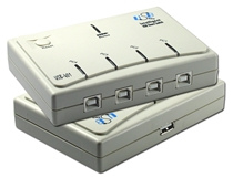 Four Computers to One USB Peripheral Autoswitch UH-401 037229221442