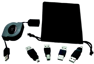 USB 2.0 480Mbps On-The-Go Retractable Five-in-One Cable Kit USB-K1R 037229229110 USB On-the-Go Premium Kit, Includes (1) USB 2.0 480Mbps retractable extension cable, (4) USB Adaptors, and pouch 165472  USBK1R USB-K1R adapters adaptors cables    3893  microcenter  Discontinued